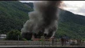 Ronco Scrivia, l'esplosione vista dall'autostrada