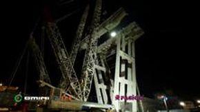 Ponte Morandi, il calo delle travi della pila 8