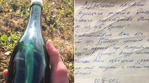 Trova un messaggio in bottiglia di 50 anni fa in Alaska e anche il suo autore