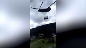 Paura a Santa Caterina Valfurva, l'elicottero atterra tra la gente