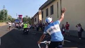 L'arrivo della Caserta-Castellania, 540 km per ricordare i 100 anni dalla nascita di Fausto Coppi