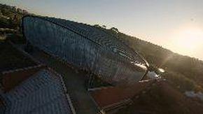 Un drone nel tempio della musica: gli 'scarabei' di Renzo Piano visti dall'alto