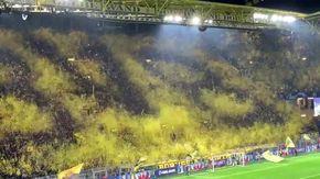 Borussia Dortmund, la coreografia è ingegnosa: pioggia di coriandoli disegna simbolo del club