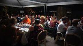 La cena di beneficenza nel parco del Santuario di Arenzano