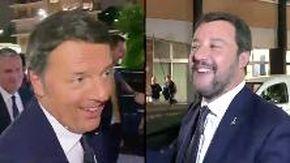 """Duello a """"Porta a porta"""": Renzi """"ruba"""" l'auto di Salvini, il leghista sfida in tv """"Giuseppi"""" Conte"""