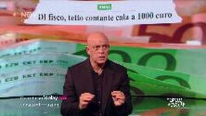 Crozza: torna il limite di 1000 euro per i contanti, ma fra 3 anni... così gli evasori si abituano