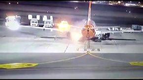 """Volo atterra e prende fuoco in pista a Sharm el-Sheikh: """"Poteva essere un disastro"""""""