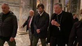 Il ministro Franceschini con il patriarca Moraglia in sopralluogo a San Marco