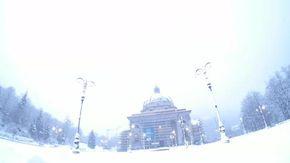 Meteo estremo in provincia di Biella, il Santuario di Oropa si illumina a giorno