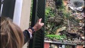 Frana a Nervi, alcune persone evacuate