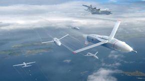 Primo test per il drone intelligente Gremlin, l'arma del Pentagono che trasforma veivoli in portaerei volanti