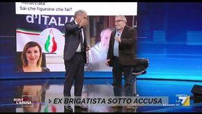 """L'ex brigatista Raimondo Etro: """"Meglio avere mani sporche di sangue ma provarci"""". Giletti lo caccia dallo studio"""