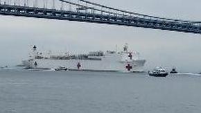 La marina Usa mette in campo le navi ospedale, arriva a New York la gigantesca USNS Comfort
