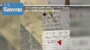 Il bel gesto della piccola Giulia alla Croce Bianca di Savona