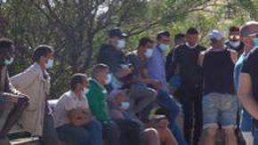 Maxi sbarco di migranti immagini in provincia di Agrigento