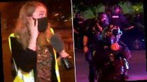 Polizia spara proiettili al peperoncino contro una reporter durante manifestazione per George Floyd