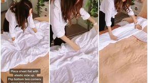 Come piegare un lenzuolo con elastici in soli 20 secondi e 4 step risparmiando anche spazio