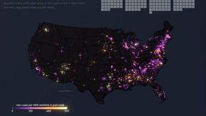 Coronavirus, l'animazione dei contagi negli Usa da marzo a giugno: la diffusione sembra irrefrenabile
