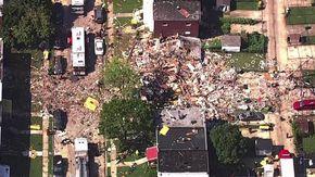Baltimora (Usa), le case sbriciolate dopo un'esplosione per  fuga di gas