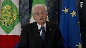 """Covid, Mattarella: """"Ricordiamoci quel che è stato e agiamo tutti con responsabilità''"""