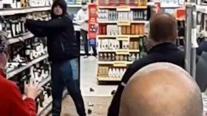 Irlanda, gli chiedono di indossare la mascherina nel supermercato lui si rifiuta e distrugge tutto