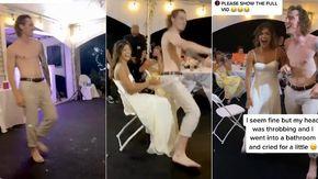 Lo sposo maldestro rischia di rovinare il matrimonio: con un passo di danza colpisce la moglie