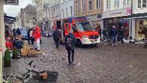 Autob sulla folla a Trier i soccorsi sulla scena dell'attentato