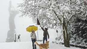 È arrivata la prima neve in Piemonte: anche a Torino