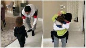 Atletico Madrid, Suarez rivede i figli dopo due settimane di Covid: gli abbracci emozionano i social