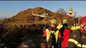 Escursionista soccorso con l'elicottero a Ruta di Camogli