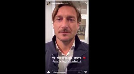 """Discoteca Corinaldo, Totti manda video a ragazzo in rianimazione: """"Michele, ti aspetto"""""""