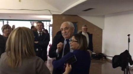 La festa di addio al procuratore Spataro a Palazzo di giustizia a Torino