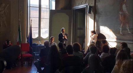 L'intervento del presidente della Camera Roberto Fico al Cairoli di Pavia