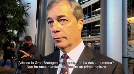 """Brexit, Farage: """"Prevedo un nuovo referendum e per noi sarà ancora più facile vincerlo"""""""