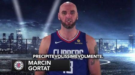 """Los Angeles, Gallinari sfida i compagni dei Clippers a pronunciare """"Precipitevolissimevolmente"""""""