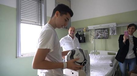 Mantova, per il cuore nuovo di Marco il pallone firmato da tutti i giocatori della Juventus