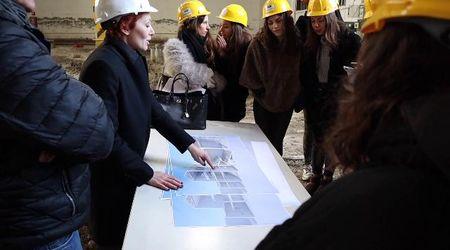 L'Ex Enel diventerà un teatro: gli studenti del Muratori nel cantiere