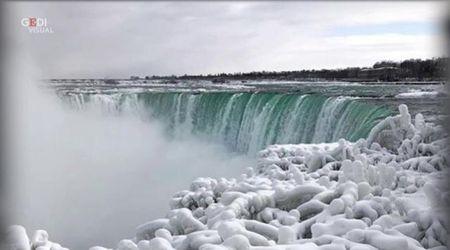Usa, altro che 'Frozen': lo spettacolo delle cascate del Niagara ghiacciate