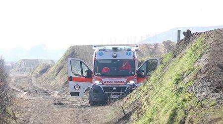 Cade sulla pista da motocross di Italba: è grave