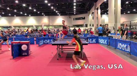 Ping pong, l'effetto non lascia scampo: tutti beffati dai colpi di Adam