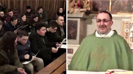Avellino, sorpresa in chiesa: don Vitaliano fa cantare 'Soldi' di Mahmood prima della messa
