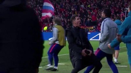 Champions League, Simeone e il gestaccio dopo il gol dell'Atletico