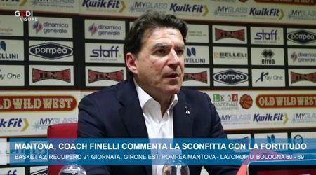Basket A2, coach Finelli commenta la sconfitta con la Fortitudo