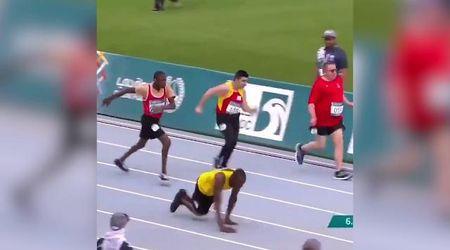 Special Olympics World Games, atleta disabile corre 50 metri con le mani: Bolt lo celebra