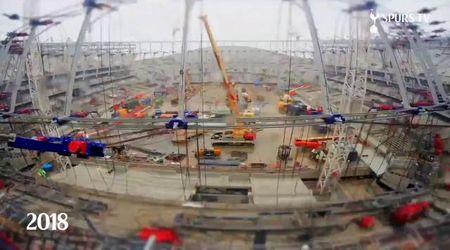 Tre anni in un minuto: i lavori in time-lapse dello stadio del Tottenham, costato 1.1 miliardi di euro