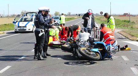 Scontro a Copparo, feriti due motociclisti