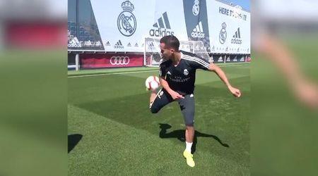 Real Madrid, bicicletta e sombrero di tacco: Vazquez e il dribbling da sogno