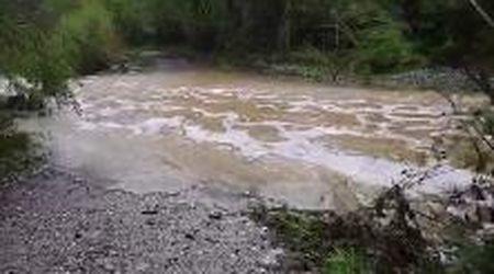 Auto travolta dal torrente in piena: ecco il punto che l'uomo voleva attraversare