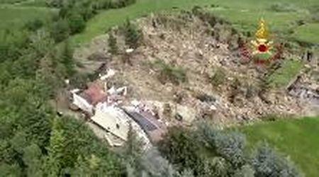 Maltempo in Emilia: frana a Borgo Tossignano, coinvolta un'abitazione