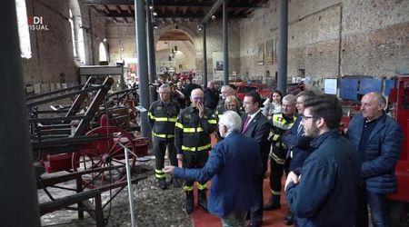 Il sottosegretario agli interni visita il museo dei Vigili del fuoco di Mantova